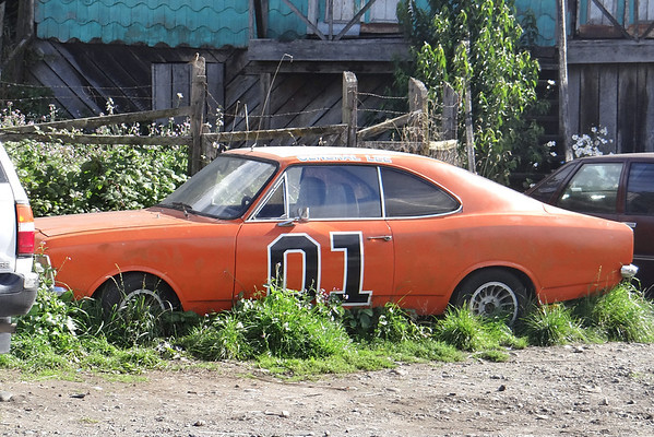 abandoned racecar, Castro, Chile