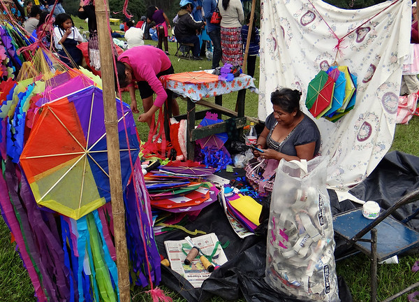 Selling Kites. Giant Kites, Bright Colors, and a Graveyard: Guatemala's Day of the Dead